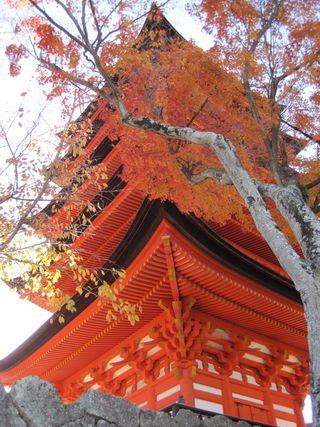 Temple sky orange